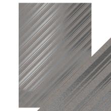 Craft Perfect- A4 Foiled Kraft Card- Silver Strokes- 9348E