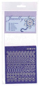 JeJe Jewelly Snowflakes Peel Off Stickers 3.8025