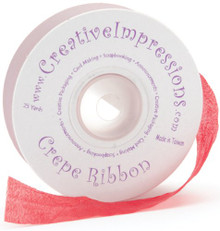 CREATIVE IMPRESSIONS CREPE-70130 Crepe Ribbon .75 in. X 25 Yards-Red