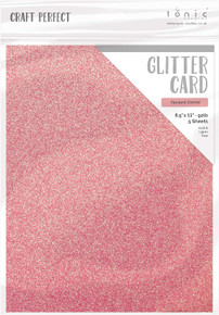 Craft Perfect Glitter Card 5PC - Opulent Orchid 9969E