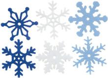 Creative Impressions CI63000 1.25-Inch Felt Snowflakes, Medium, 36 Per Package