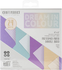 Craft Perfect Dream in Colour Patterned Paper Pack 6x6 Double Sided paper