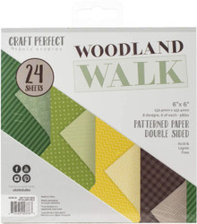 Craft Perfect Woodland Walk Patterned Paper Pack 6x6 Double Sided paper