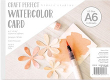 "Craft Perfect Watercolor Card US size A6 (4.5""x6.25"")- 15 sheets"