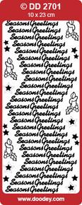 DD2701 Gold Season Greetings Peel Stickers One 9x4 Sheet