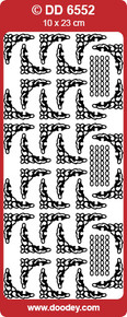 DD6552 Frames and Corners Chain Fine Borders SILVER Peel-Off Outline Metallic Style Sticker
