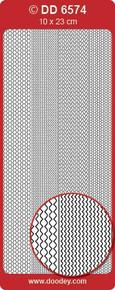 DD6574 Frames Multiwave SILVER Peel Stickers One 9x4 Sheet