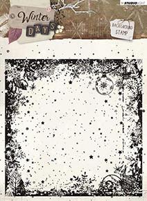 Stamp - Background Design - 14 x 14 cm - Winter Days, Nr. 314