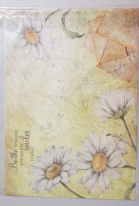 Sue Baker Papercrafting Rice Paper- Birds & Blossom- Be the Reason Someone Smiles- Yellow