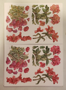 Tattered Lace 3D Decoupage- In The Garden Set 1- Includes 3 dies: Peony (515016), Cyclamen (515020), and Lily (515027) w/ matching Charisma papers