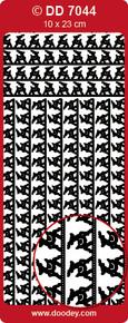 DD7044 Deer Frame GOLD Peel Stickers One 9x4 Sheet