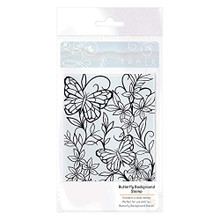 Tonic Studios- Butterfly Background Stamp- 2704e