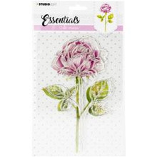 Studio Light- Essentials Clear Stamp- Rose SIZE: A5