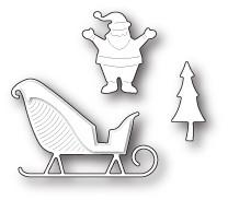 Memory Box 100% Steel Santa's Happy Sleigh 99578