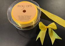 1 Inch Woven Iridescent Ribbon - KA27 - YELLOW