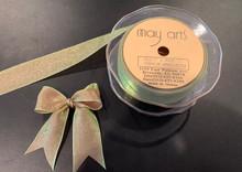 1 Inch Woven Iridescent Ribbon - KA22 - MAUVE/SAGE