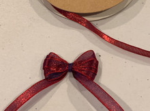 1/4 Inch Woven Iridescent Ribbon - KA14 - RED/BLUE   IMPORTANT NOTE