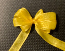 1/4 Inch Woven Iridescent Ribbon -KA27 - YELLOW