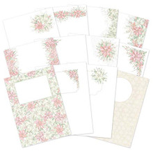 Hunkydory- Forever Florals - Poinsettia Luxury Card Inserts- FFPOINSET102