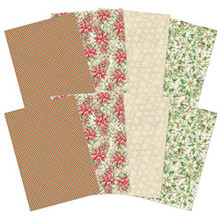 Hunkydory- Forever Florals - Poinsettia Printed Parchment FFPOINSET108
