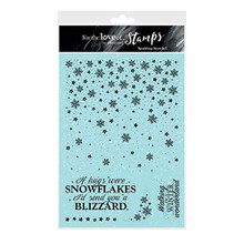 Hunkydory For the Love of Stamps- Sparkling Snowfall - A5 Stamp Set