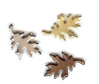 Creative Impressions- Antique Assorted Oak Leaf Brads (25)- 95560