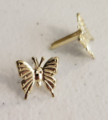 Creative Impressions- Gold Butterfly Brads (25)- 91006
