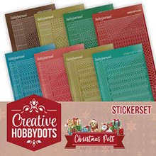 Find It Trading Creative Hobbydots Christmas Pets - Sticker Set- CHSTS005
