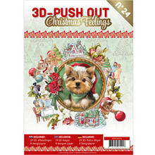 Find It Trading S3D-Push Out Christmas Feelings #24-24 3D Images with 8 Background Papers