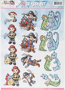 Find It Trading Yvonne Creations Punchout Sheet-Tots & Toddlers- Dress Up