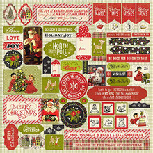 "Authentique Paper- A Magical Christmas Cardstock Stickers 12""X12"""