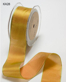 1/4 Inch Woven Iridescent Ribbon -KA28- Orange/Light Green IMPORTANT NOTE