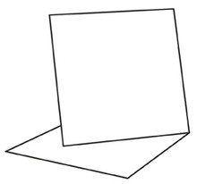 "Craft Style Products- 6""x6"" Easel Card Blanks & Envelopes- white 5 pack"
