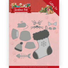Amy Design Cutting Die - Christmas Pets - Christmas Cat ADD10214