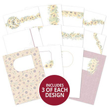 Hunkydory Crafts- Forever Florals Sunflower Luxury Card Inserts- FFSUN102