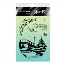 Hunkydory For the Love of Stamps- Riverside Christmas Tree - A6 Stamp Set