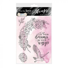 Hunkydory For the Love of Stamps- Wise & Beautiful- Feathered Dreams - A6 Stamp Set