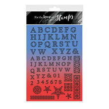 Hunkydory- for The Love of Stamps- Stained Glass Alphabet- A4 Stamp Set- FTLS580