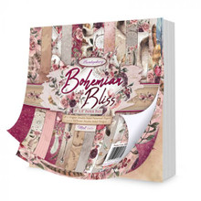 Hunkydory Crafts Bohemian Bliss 8x8 Paper Pad 48-Double-Sided 150gsm Sheets