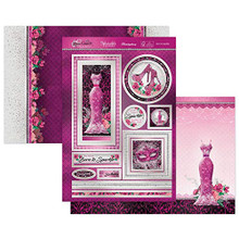 Hunkydory Crafts- Rose Quartz Dreams- Born to Sparkle Luxury Topper Set- ROSEQ902