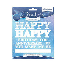 Hunkydory Moonstone Cutting Dies- Be Happy Sentiments MSTONE241
