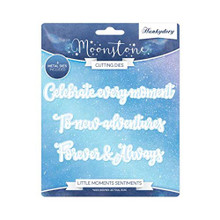 Hunkydory Moonstone Cutting Dies- Little Moments Sentiments MSTONE243