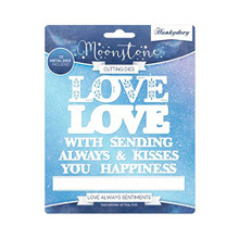 Hunkydory Moonstone Cutting Dies- Love Always Sentiments MSTONE244