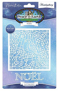 Hunkydory Moonstone Die- Peace on Earth - Robin MSTONE226
