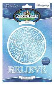 Hunkydory Moonstone Die- Peace on Earth- Star MSTONE227