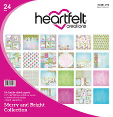 """Heartfelt Creations Double-Sided Paper Pad 12""""X12"""" 24/Pkg-Merry & Bright"""