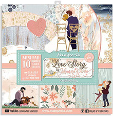 STAMPERIA INTL- Double-Sided Paper PAD 8X8 10PK, Love Story, 10 Designs/1 Each