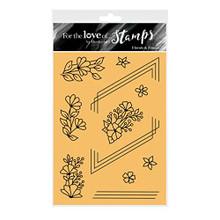 Hunkydory- for The Love of Stamps- Florals & Frames- A6 Stamp Set- FTLS607