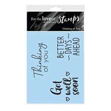 Hunkydory- for The Love of Stamps- Thinking of You- A7 Stamp Set- FTLS613