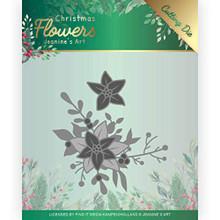 Find It Trading Jeanine's Art Christmas Flowers- Poinsettia Corner Cutting Die Set JAD10107